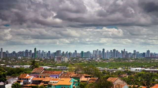 time lapse: recife skyline, brazil - recife stock videos and b-roll footage
