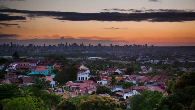 time lapse: recife sunset - recife stock videos and b-roll footage