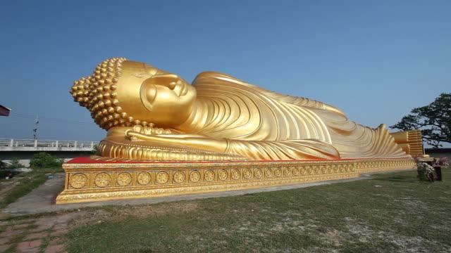 reclining buddha - lying down stock videos & royalty-free footage