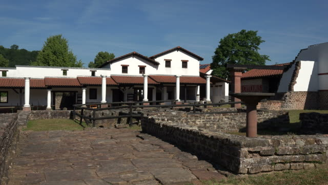 Reconstructed Villa at the Roman Museum Schwarzenacker near Homburg in Saarland, Germany