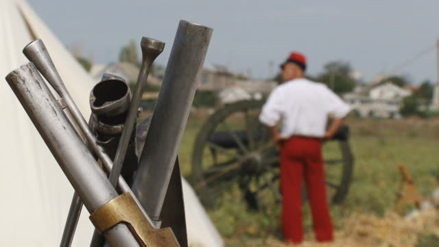 reconstruction of a military camp since the Crimean War