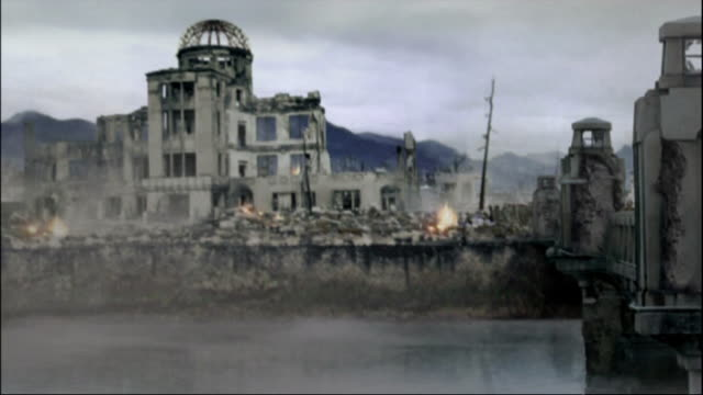 reconstruction of devastated hiroshima including hiroshima prefectural products exhibition hall available in hd. - destruction stock videos & royalty-free footage