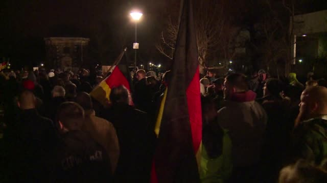 a record 15000 people march in eastern germany against asylum cheats and the countrys islamisation in the latest show of strength of a growing far... - populism stock videos and b-roll footage