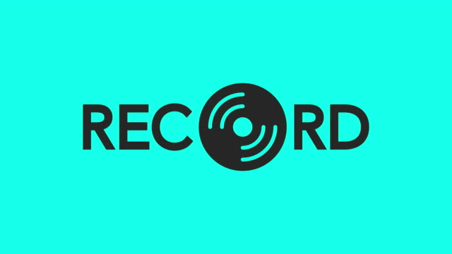 record bold type - vector animate - cd writer stock videos & royalty-free footage