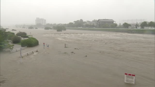 record downpours have been pummeling many parts of japan. some places have already seen more rainfall than the average for the entire month of july.... - fukuoka prefecture stock videos & royalty-free footage