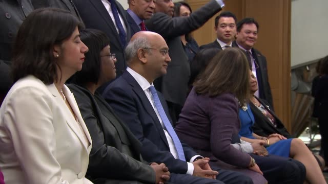 record number of black and ethnic minority mps in parliament england london westminster int various shots black and ethnic minority mps sat at... - parlamentsmitglied stock-videos und b-roll-filmmaterial