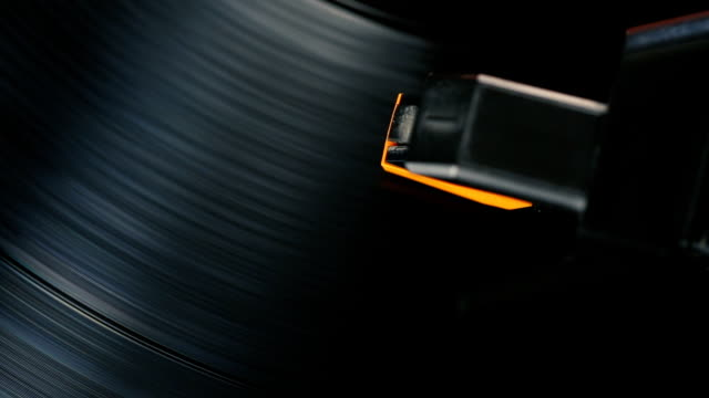 record player playing a spinning vinyl lp - scratched stock videos & royalty-free footage