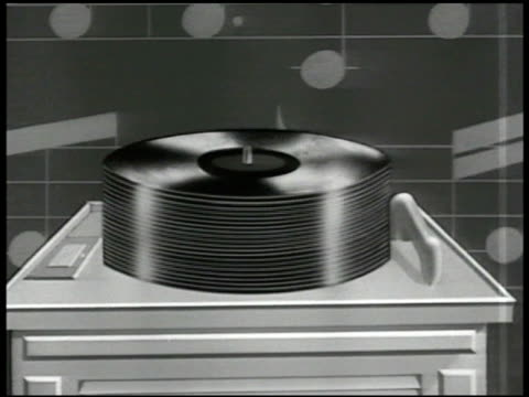 CHART Record Sales animated record stack rising '1947 325 Million' superimposed
