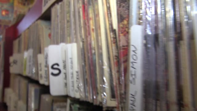 vídeos y material grabado en eventos de stock de ktxl record store in sacramento - tienda de discos