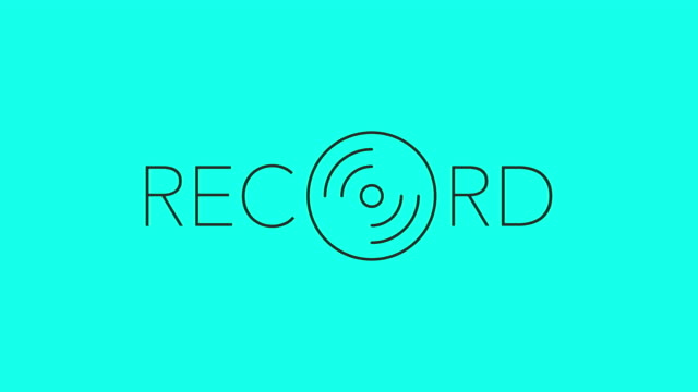 record thin type - vector animate - cd writer stock videos & royalty-free footage