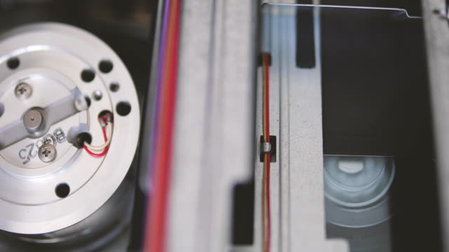 vhs recorder tape transport mechanism - videocassette stock videos & royalty-free footage