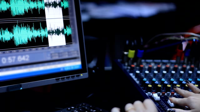 recording and editing radio show - audio equipment stock videos & royalty-free footage