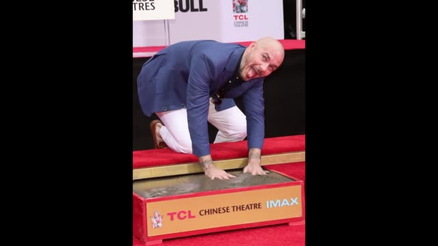 Recording Artist Pitbull attends his Hand and Footprint ceremony at TCL Chinese Theatre on December 14 2018 in Hollywood California