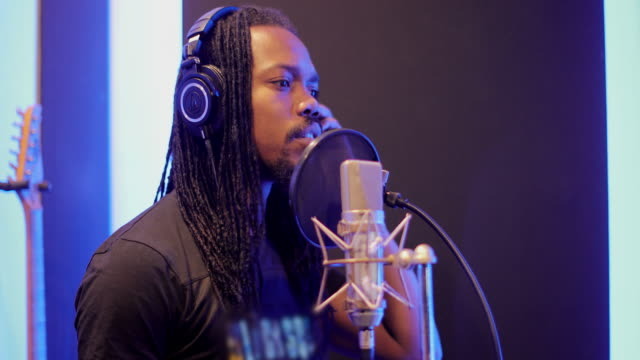 recording in music studio - jamaican ethnicity stock videos & royalty-free footage