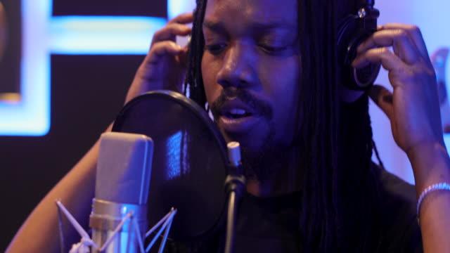 recording in music studio - singer stock videos & royalty-free footage