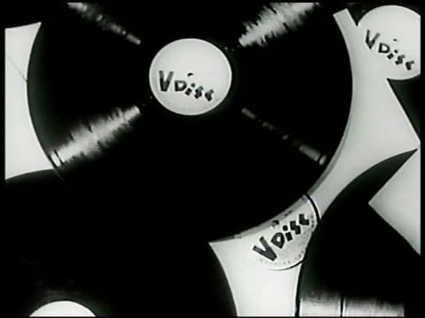 vidéos et rushes de records spread flat all w/ 'v disc' record label no song titles wwii world war ii - disque vinyle