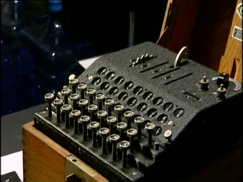 recovered enigma machine stolen from bletchley park 17 nov 00 - enigma machine stock videos & royalty-free footage