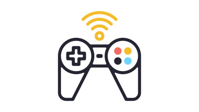 Recreational Activities Line Icon Animation with Alpha