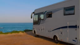 RV, Recreational vehicle, camping at the beach