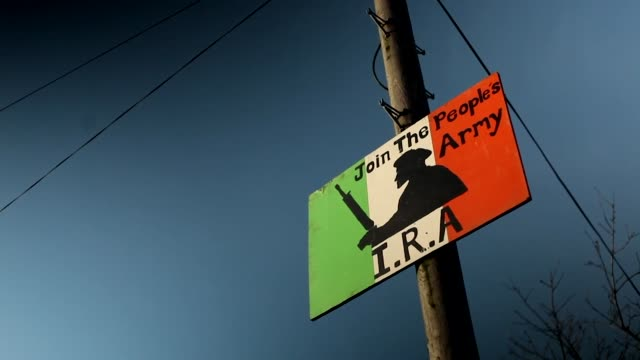 Recruitment posters for the People's Army in Derry a dissident Republican group known as the new IRA