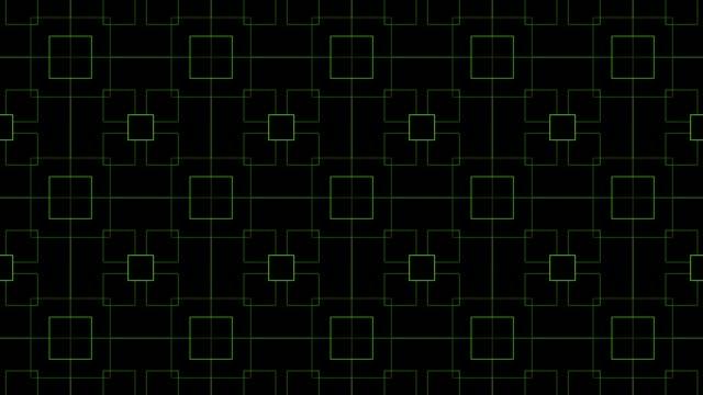 長方形、緑色のループ - brightly lit点の映像素材/bロール