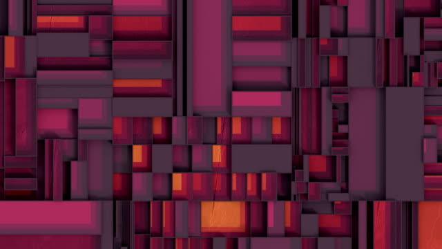vídeos y material grabado en eventos de stock de las formas rectangulares se mueven en planos horizontales y verticales. diseño gráfico de movimiento mecánico abstracto. animación de bucle sin interrupciones de renderizado en 3d. hd - animación biomédica
