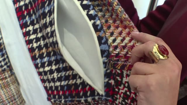 recuperating linings from grand hotels second hand tweed patchwork dresses or jackets made from old sarees bought in india the luxury recycling... - patchwork stock videos & royalty-free footage