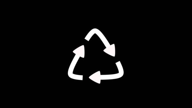 recycling-symbol animiert - arrow symbol stock-videos und b-roll-filmmaterial