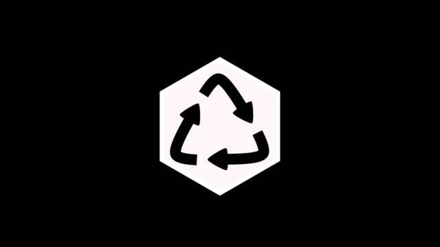 vídeos y material grabado en eventos de stock de icono de reciclaje animado - ícono