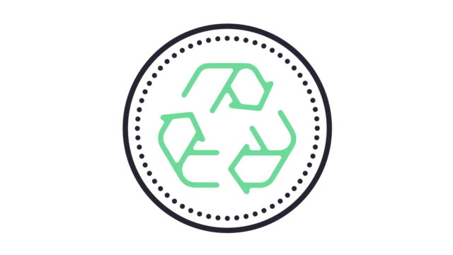 recycle icon animation - recycling stock videos & royalty-free footage