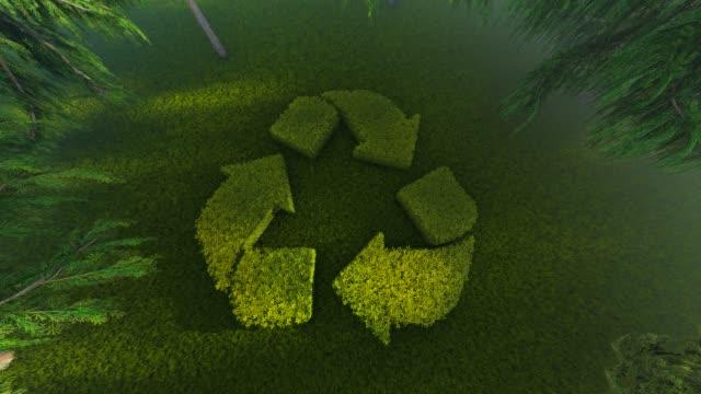 vidéos et rushes de recycler le logo - environnement