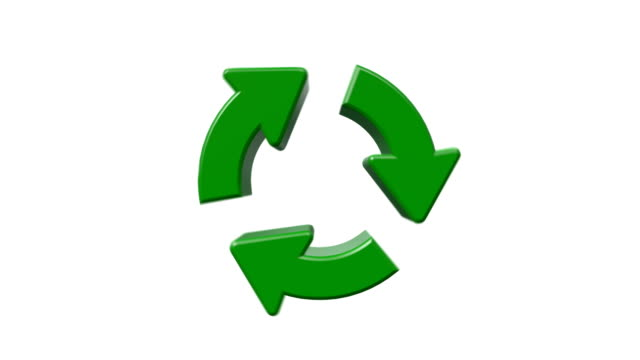 recycle logo - symbol stock videos & royalty-free footage