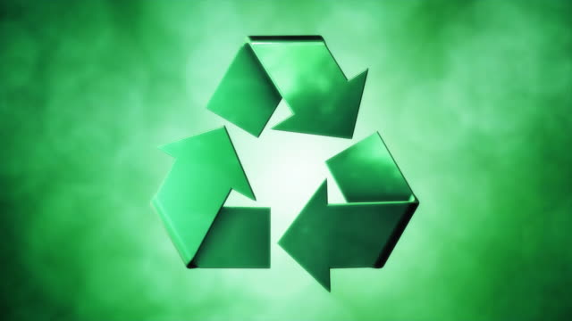 recycle symbol green - responsibility stock videos & royalty-free footage