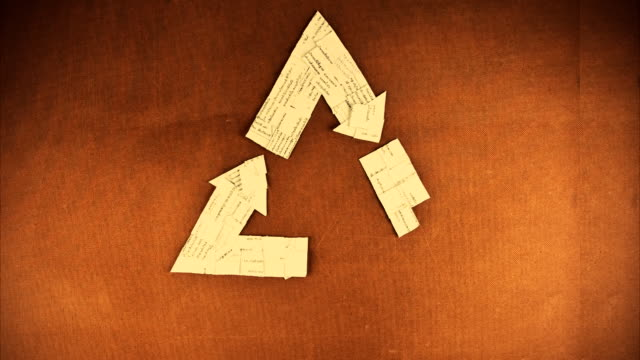 recycle symbol time lapse - tre oggetti video stock e b–roll