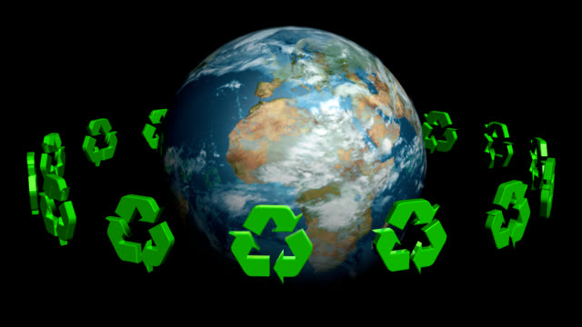 stockvideo's en b-roll-footage met recycle to save the planet - omgeven
