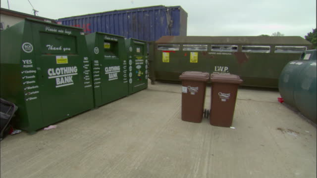 ms, recycling bins, ardley, oxfordshire, united kingdom - oxfordshire stock videos & royalty-free footage