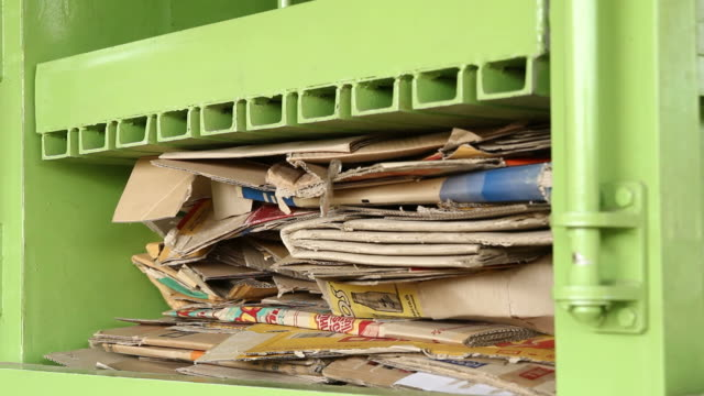 recycling cardboard - pulp stock videos & royalty-free footage
