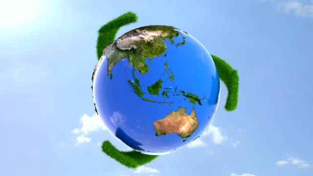 vídeos y material grabado en eventos de stock de reciclaje de tierra - environmental conservation