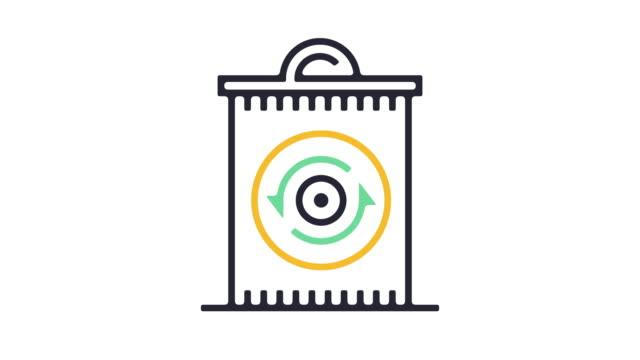 återvinning ikonen animation - ansvarsfullt företagande bildbanksvideor och videomaterial från bakom kulisserna