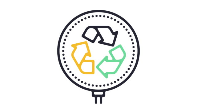 Recycling Line Icon Animation