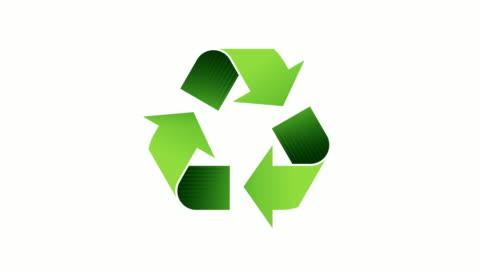 stockvideo's en b-roll-footage met recycling logo - looping geanimeerd symbool met alpha channel - recycling