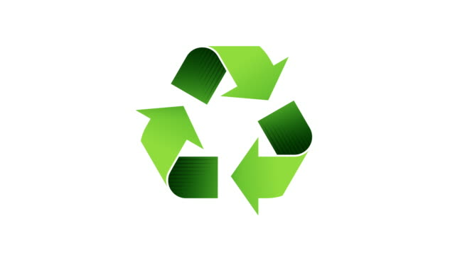 recycling logo - looping animated symbol with alpha channel - circle stock videos & royalty-free footage