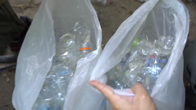 recycling plastic bottle - bottle stock videos & royalty-free footage