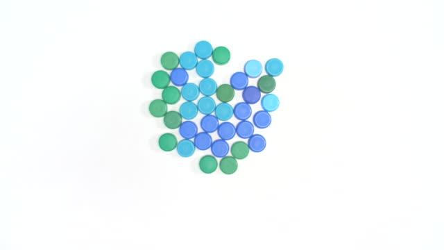 recycling symbol/ debica/ poland - plastic cap stock videos & royalty-free footage