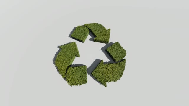 recycling symbol on white background - ecosystem stock videos & royalty-free footage
