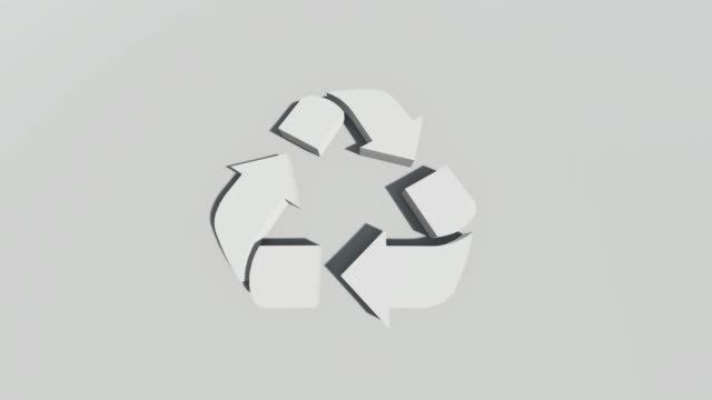 recycling symbol - logo stock videos & royalty-free footage