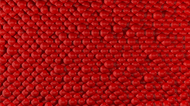 red abstract spheres looping background - ball stock videos & royalty-free footage