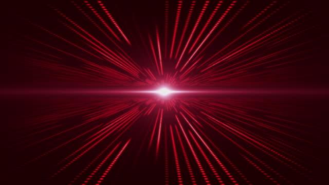 röd abstrakt teknik digitalt bakgrundsperspektiv med ljus - minskande perspektiv bildbanksvideor och videomaterial från bakom kulisserna