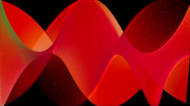 Red abstract waves