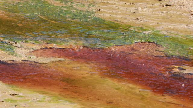 red acid water riotinto river, embalse de la marismilla - sulphur stock videos & royalty-free footage